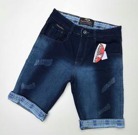 a8b145ff1 Bermuda Jeans Masculina Com A Barra Desfiada - Calçados, Roupas e ...