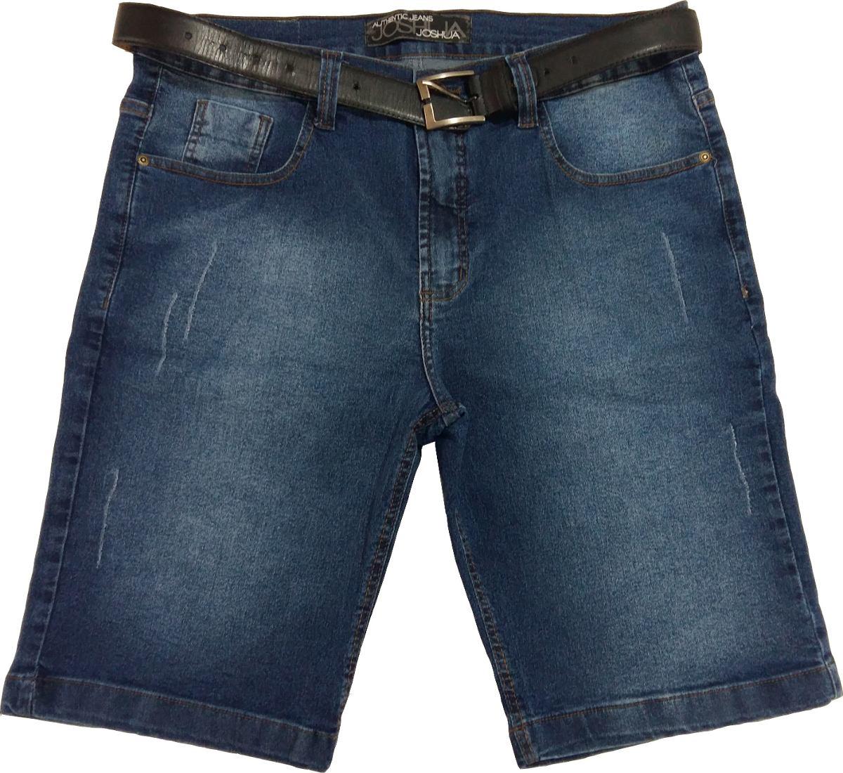 1940610c61 bermuda jeans masculina com lycra 40 ao 50. Carregando zoom.