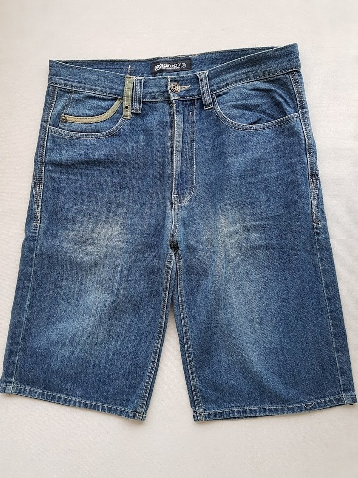 bermuda jeans masculina ecko unltd original semi nova. Carregando zoom. 63bdd61a7ceeb