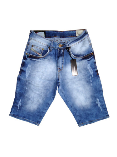 bermuda jeans masculina original slim fit stretch top marcas