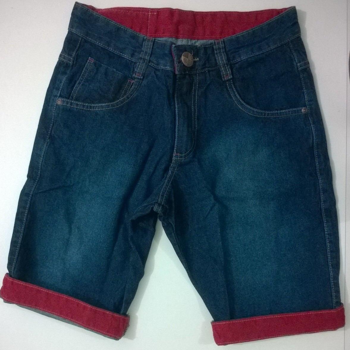 9a1884c75c bermuda jeans masculina oslen barra colorida. Carregando zoom.