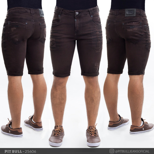 bermuda jeans masculina pit bull original 25606