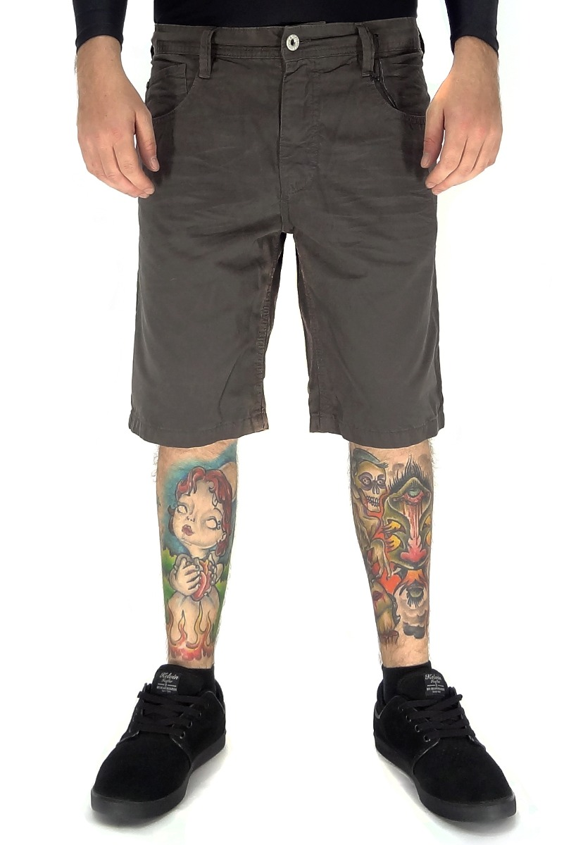 3ec370fe21a05 bermuda jeans mcd walk cotton slim grafite 40. Carregando zoom.
