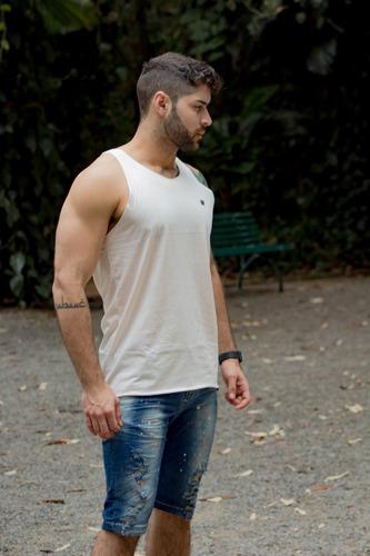bermuda jeans premium com elastano