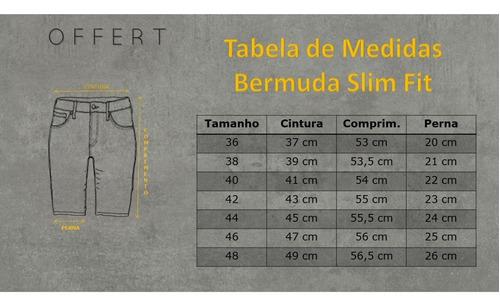 bermuda jeans premium masculina slim fit destroyed offert