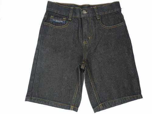 bermuda jeans u.s. polo assn tamanho 5 anos + frete grátis