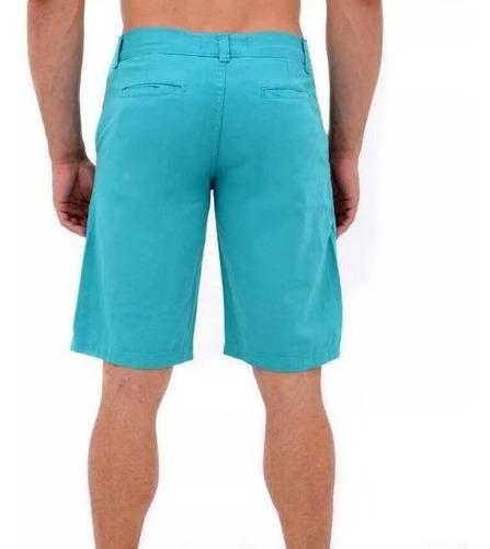 bermuda masculina de sarja casual colors azul céu