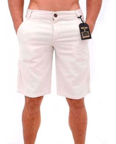 bermuda masculina de sarja casual colors creme