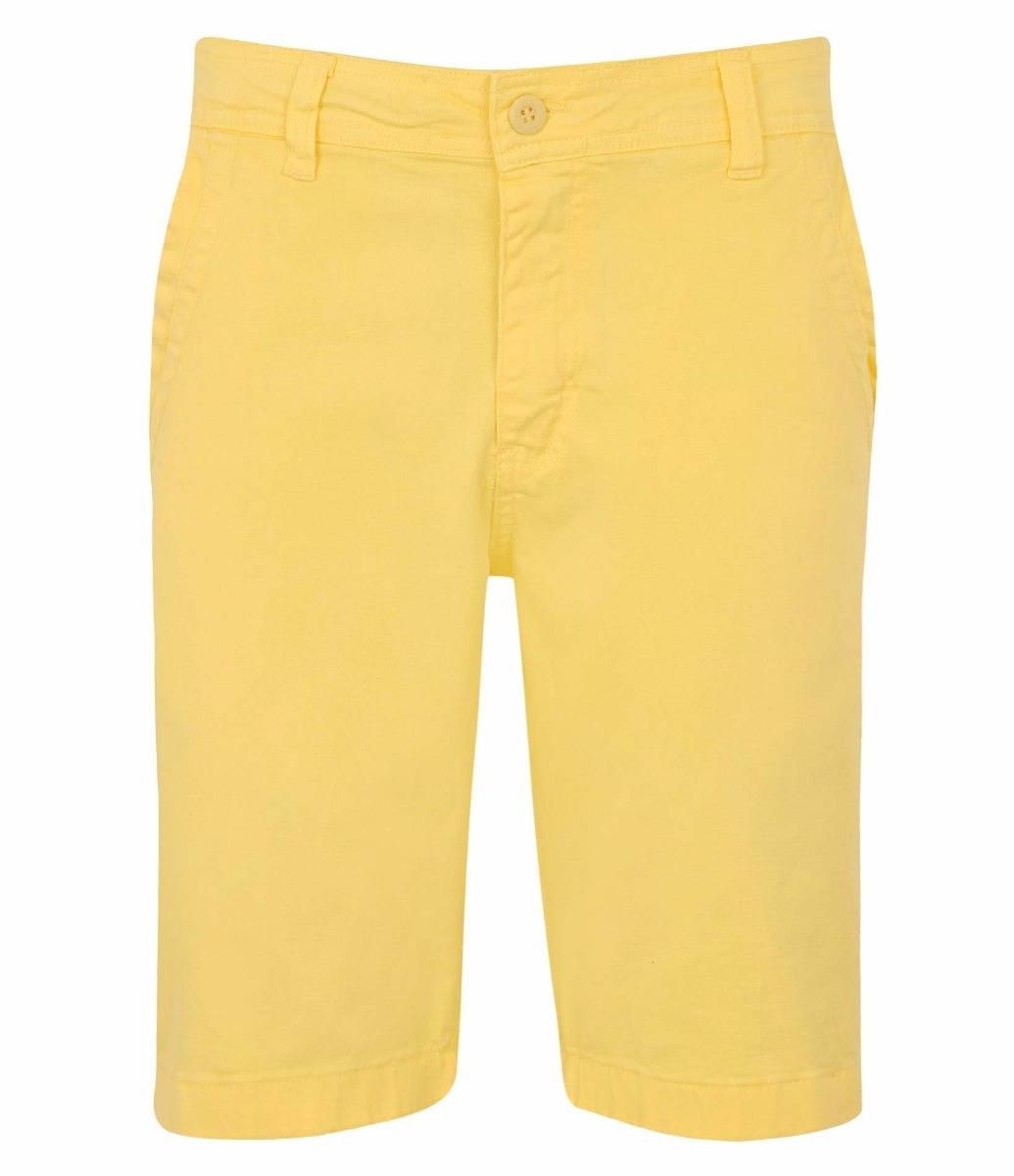 652fd5530 Bermuda Masculina Em Sarja Amarela, Jeans - R$ 29,90 em Mercado Livre