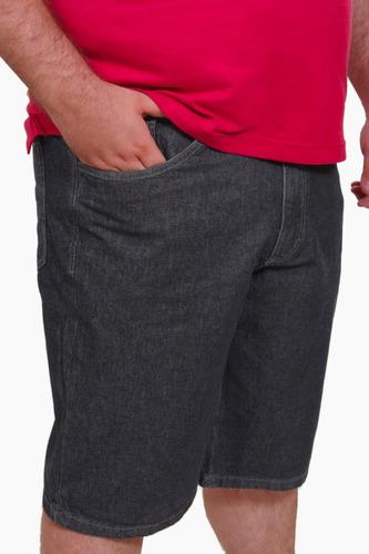 bermuda masculina jeans com lycra plus size até nº 64