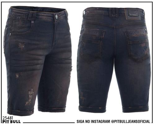 bermuda masculina jeans pit bull original color 25481