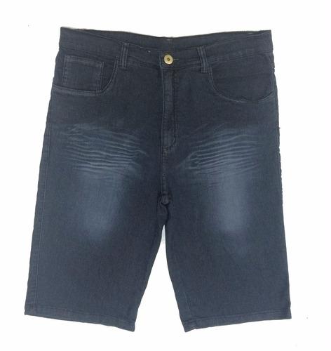 bermuda masculina jeans plus size peq defeito 50 ao 66 1020