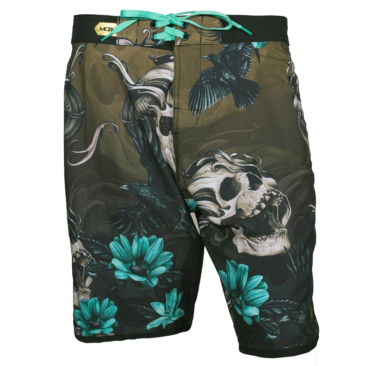 bermuda mcd walk scream skull - verde preto. Carregando zoom. ea780d23ef0