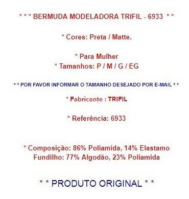 bermuda modeladora trifil chocolate p a eg original nova