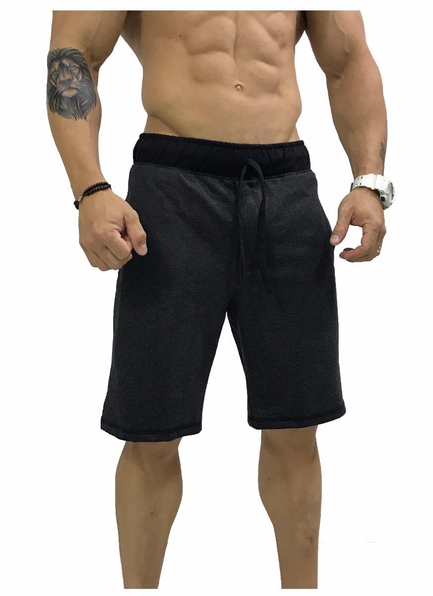 ceffe1bb4 Bermuda Moletom Masculina Listrada Shorts Rajada Cores Slim - R  35 ...