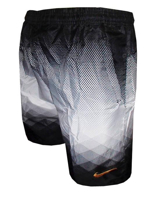 Bermuda Nike Com Bolso Calçao Shorts Degrade Preto E Branco - R  74 ... a08100eec7073