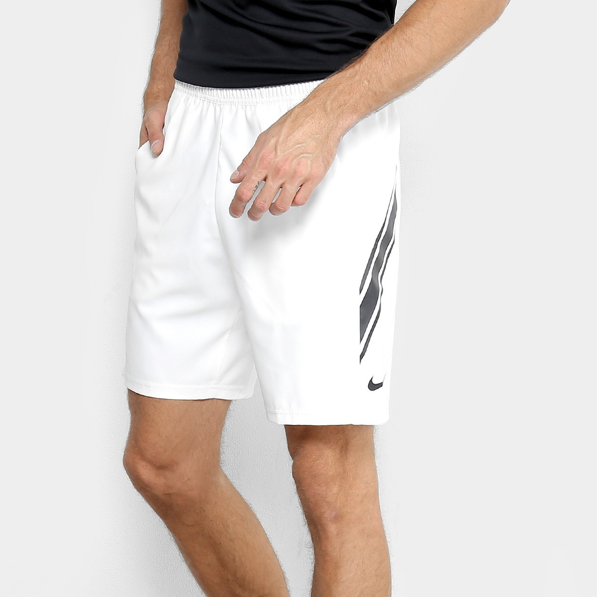 742cb1d740 bermuda nike shorts dry 9in masculina branco original+nf. Carregando zoom.