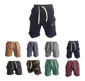 c2b255add Bermuda Niño Algodón Rustico Pantalon Corto Verano Short