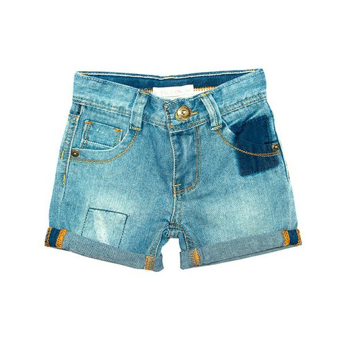 bermuda niño jeans skate jeans azul. ficcus