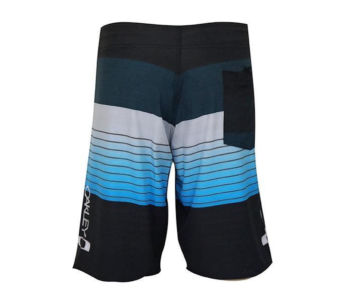 Bermuda Oakley Viscolycra Preto E Azul - R  89 81b75d8eadd