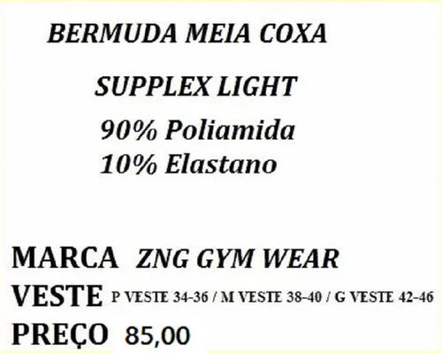 bermuda ou short zng gym wear super promoção