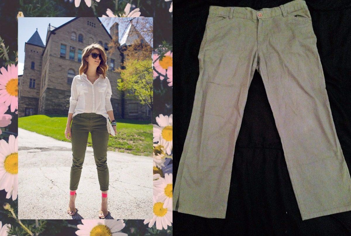4fb864b6e2c3 Bermuda Pantalon Corto Pescador Verde Militar Para Mujer - $ 299,00