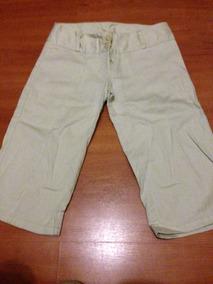7374aea96b9f Bermuda Pescador Pantalon Corto Beige Para Mujer