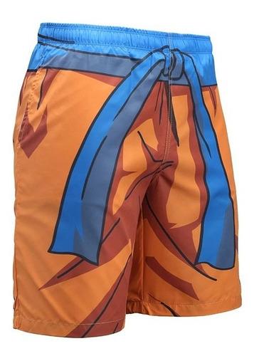 bermuda short 3d full verão uniforme dragão ball z goku