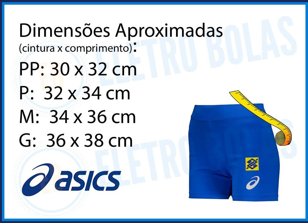 bermuda short fem vôlei quadra seleção brasileira cbv asics. Carregando  zoom. b2bfad025d4a6