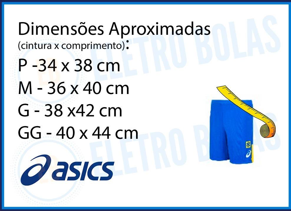 bermuda short masc vôlei quadra seleção brasileira cbv asics. Carregando  zoom. db8b5fd3c1efa