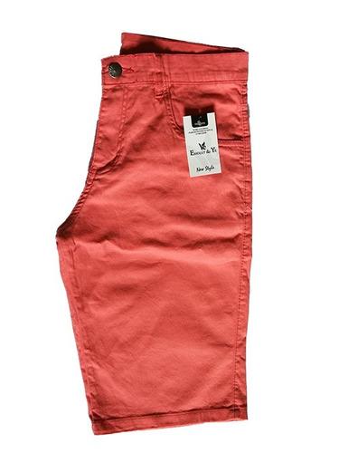 bermuda short masculina brim colorida otima qualidade # b02