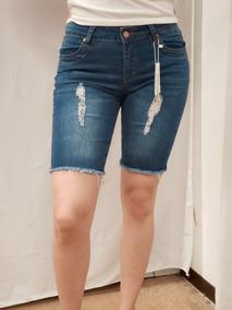 8beebb45 Short Mujer Mezclilla Con Estoperoles - Bermudas y Shorts en Mercado Libre  México