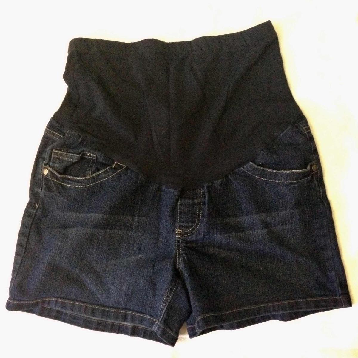 638da8a1b bermuda short pantalón corto embarazada premama blue jean. Cargando zoom.