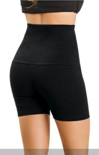 bermuda shorts cintura alta preta - roupa tamanhos p m g gg