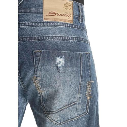 bermuda shorts jeans masculina sawary com bolsos novo