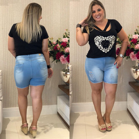 1251b8b196 Short Gordinha Curto - Shorts para Feminino no Mercado Livre Brasil
