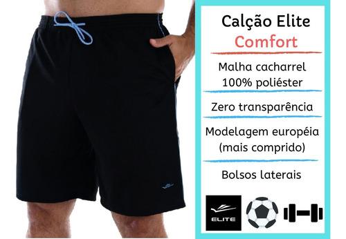 bermuda shorts masculino plus size elite 2 bolsos tamanho 50 ao 64