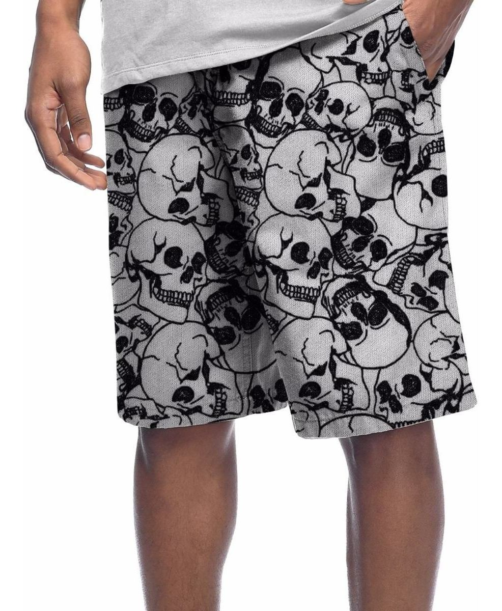 Bermuda Shorts Moletinho Caveira Desenho Tags Tumblr Swag R 149