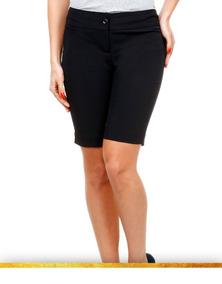 816108c968fd9b Bermuda Social Feminina Uniforme Kit50