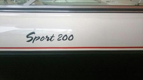 bermuda sport 200 c/ evinrude 150hp g1 - 0km
