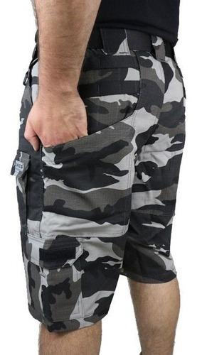 bermuda tática hrt 8 bolsos velcro modular urbano black dacs