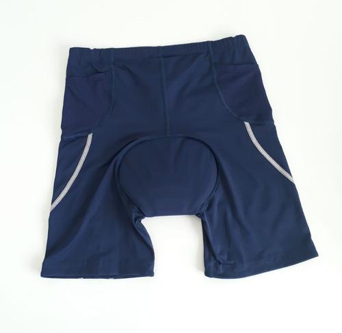 bermuda triathlon asics masculino azul m
