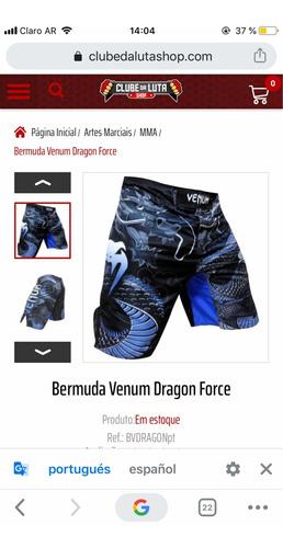 bermuda venum dragon force(nuevo con etiqueta)
