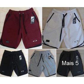 14186a9e00 Kit 2 Bermudas Moleton+2 Camisas Oakley Pronta Entrega 0499