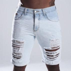 259f57faa7 Kit 4 Bermuda Jeans Masculina Desfiada Rasgada Lindas