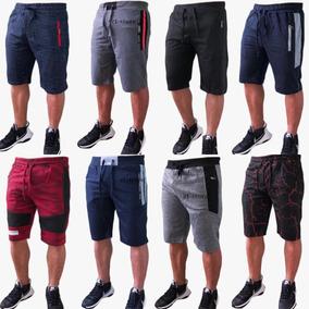 8790a6f79515e Kit 4 Bermuda Shorts Moletom Academia Masculino Variados