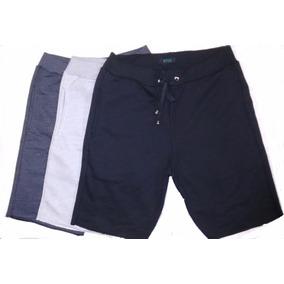 ef332c73b Bermuda Shorts Moleton Moletom Masculina - Kit Com 3 Peças