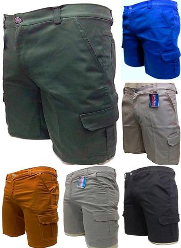 bermudas cargo casual top 6 bolsos diversas cores modelos