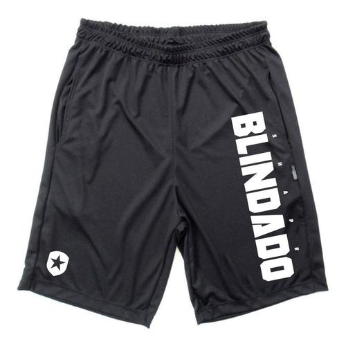 bermudas dryfit kit 2 peças black skull e shape blindado one