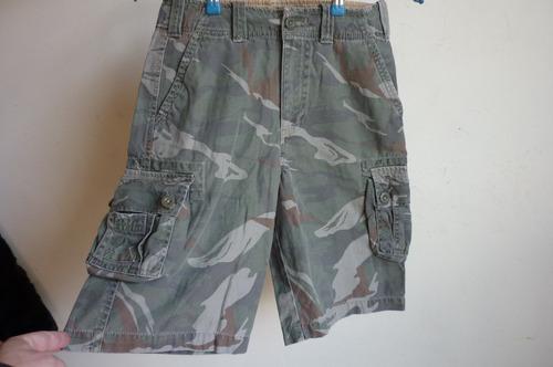 bermudas  niño  militar  talla 10   arizona